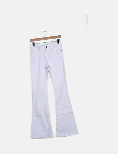 Pantalón blanco campana