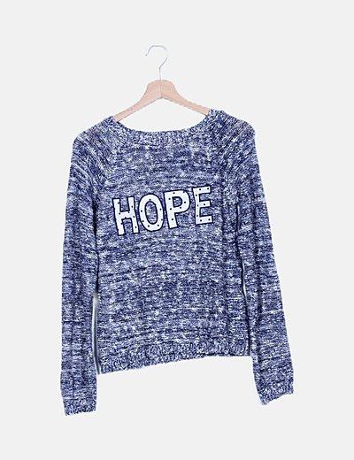 """Jersey azul noche jaspeado """"Hope"""""""