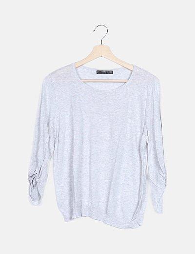 Suéter tricot gris