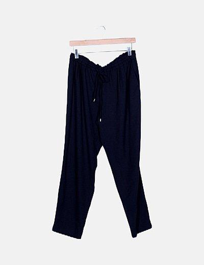 Pantalón azul noche baggy