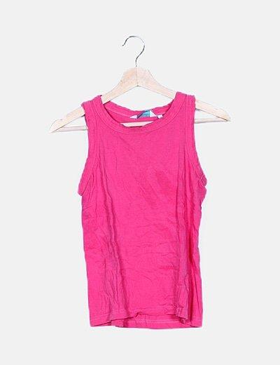 Camiseta rosa chicle básica