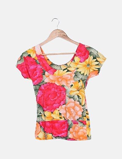 Camiseta multicolor flúor
