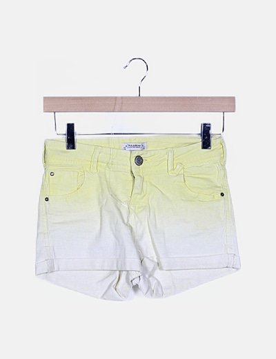Short denim amarillo degradado