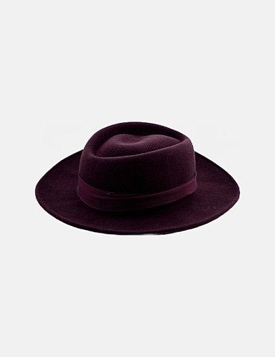Sombrero marróm combinado