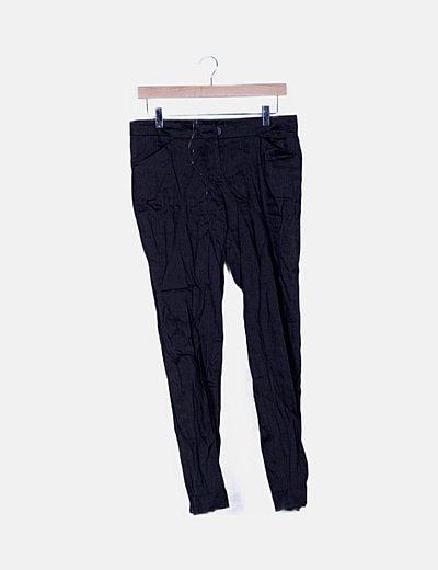 Pantalón chino gris de lino
