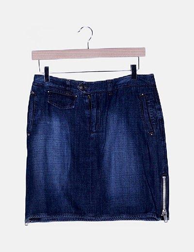 Falda mini denim