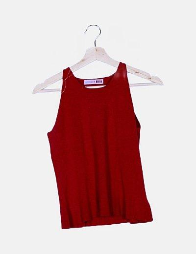 Camiseta roja punto