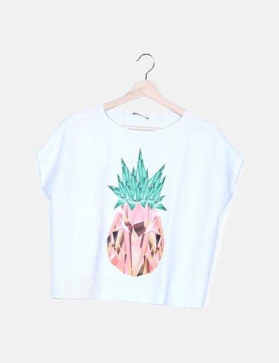 Camiseta blanca print piña