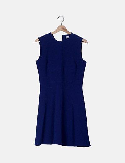 Vestido azul detalle cremallera