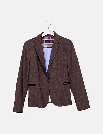 Blazer marrón tricot