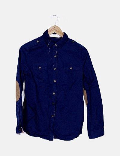 Camisa azul noche básica