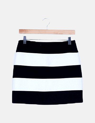 Falda bicolor de rayas