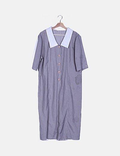Vestido gris polka dot