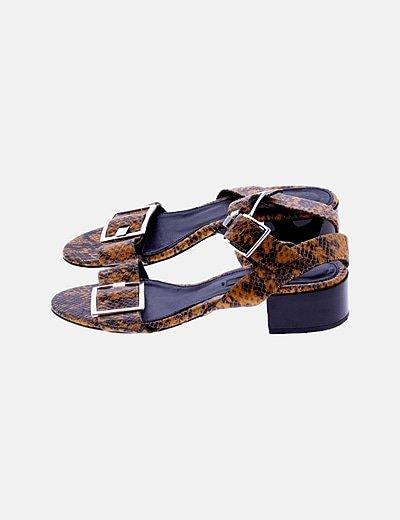 Sandalias serpiente amarilla