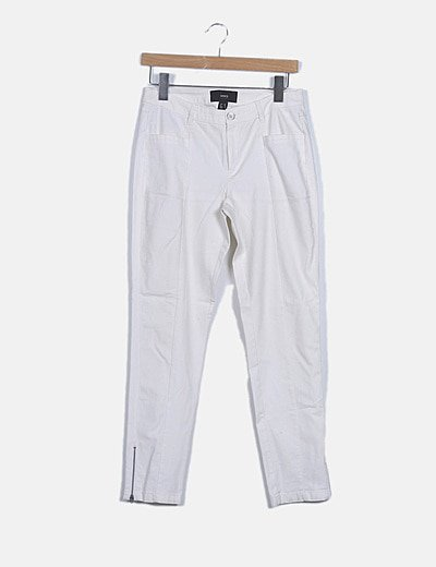 Pantalón denim blanco