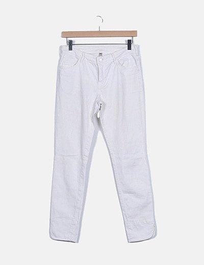 Pantalón blanco cremalleras