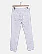 Pantalón blanco cremalleras Mango