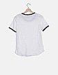 Camiseta blanca ribete azul El Ganso