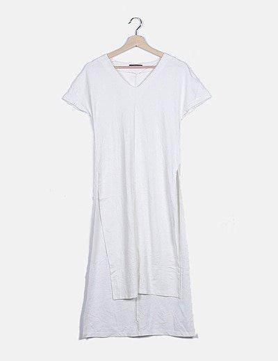 Vestido blanco aberturas