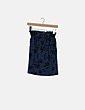 Falda azul estampado PAN