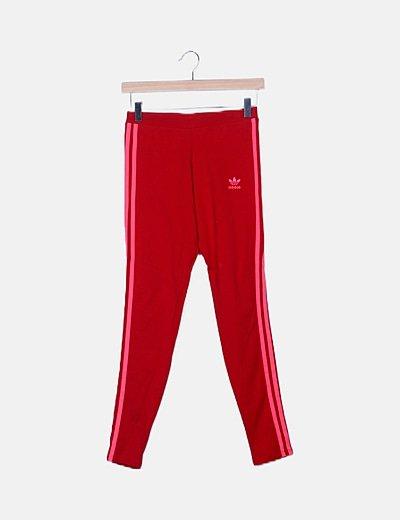Legging deportivo rojo