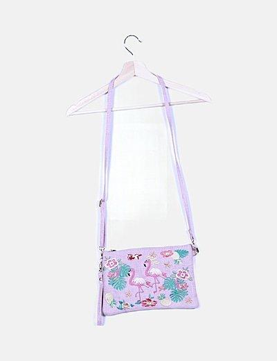 Cluchet rosa estampado floral