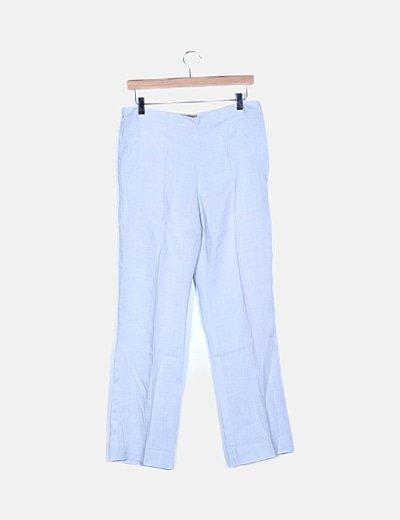 Pantalón de pinzas azul cielo