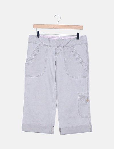 Pantalón pirata beige