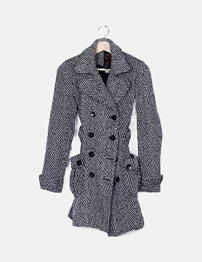 Abrigo lana combinado