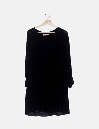 Vestido negro motas