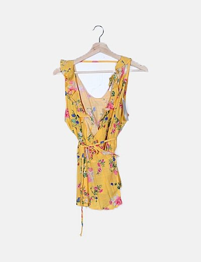Blusa amarilla floral
