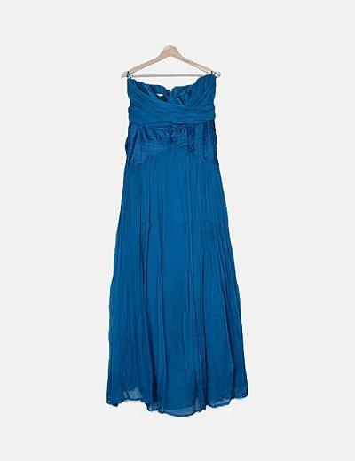 Vestido azul océano