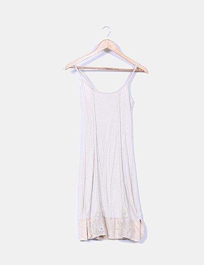 Vestido mini Cream