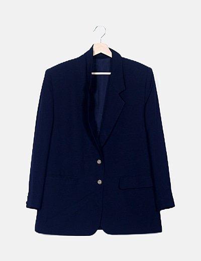 Blazer azul marino detalle bolsillos