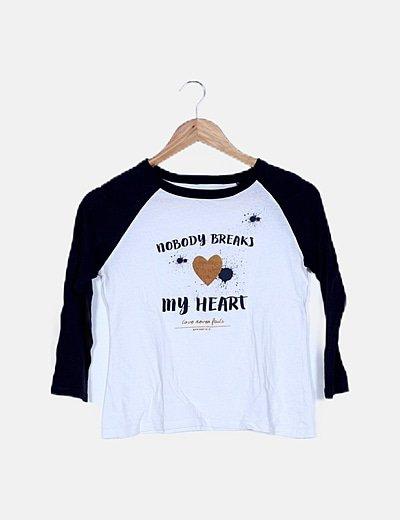 Camiseta bicolor con mensaje