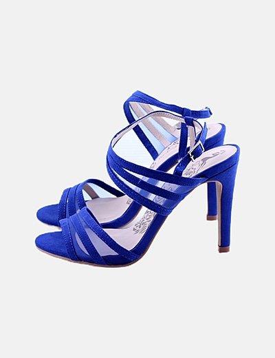 Sandalia tacón azul