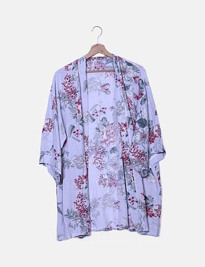 Kimono azul flora
