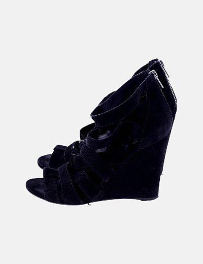 Sandalias cuñas negras
