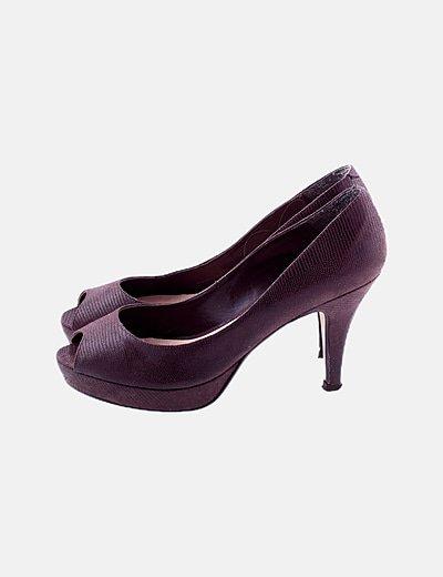 Zapato marrón tacón