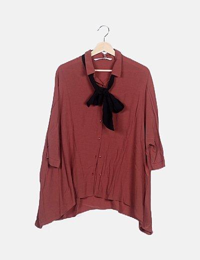 Camisa rose wood detalle lace up