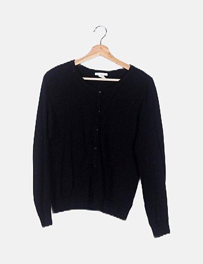 Jersey negro abotonado