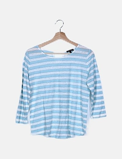 Camiseta franjas bicolor