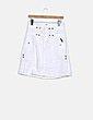 Falda blanca detalle botones D&G