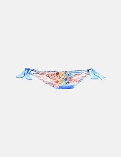 Bikini bottom multicolor estampado floral