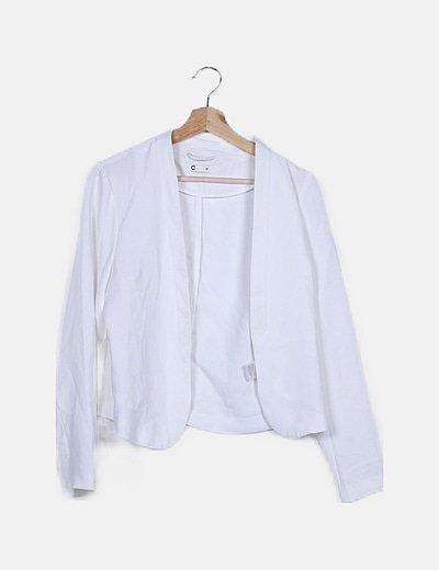 Kimono fluido blanco