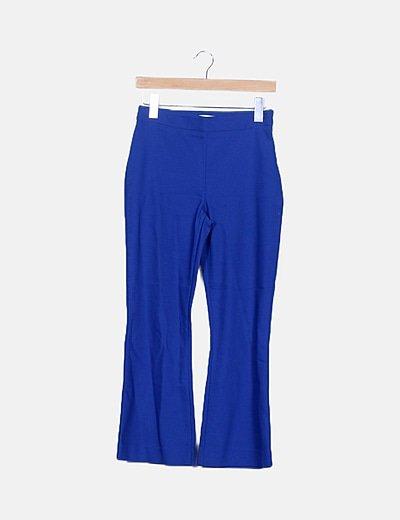 Pantalón campana azul