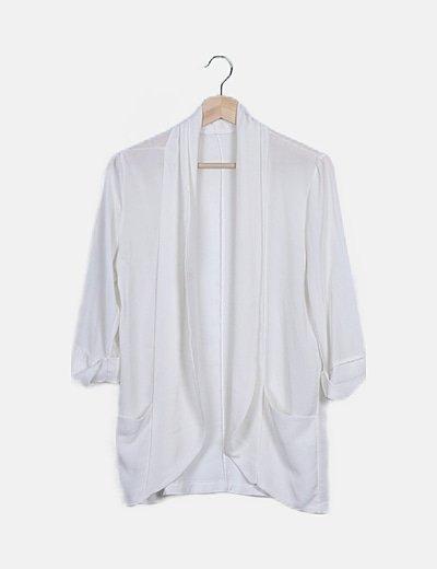 Kimono texturizado blanco