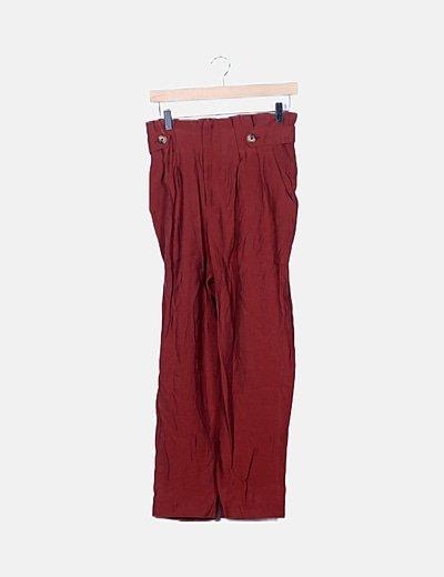 Pantalón narnja baggy detalle botones