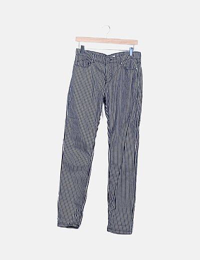 Pantalón de rayas recto