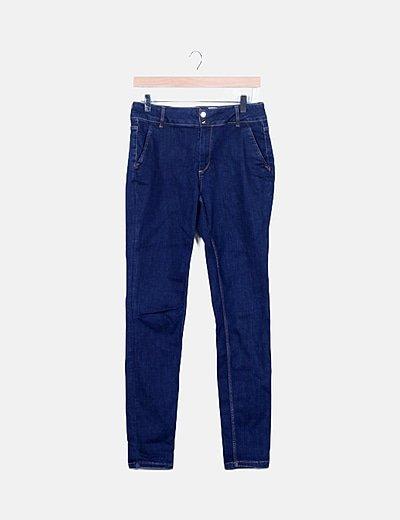 Pantalón denim pitillo azul